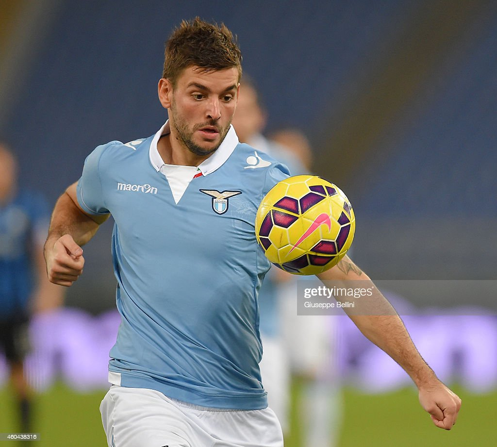 Filip Djordjevic of SS Lazio in action during the Serie A match between SS Lazio and Atalanta BC at Stadio Olimpico on December 13, 2014 in Rome, Italy.