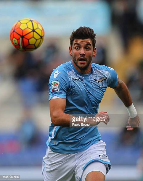 Filip Djordjevic of SS Lazio in action during the Serie A match between SS Lazio and US Citta di Palermo at Stadio Olimpico on November 22 2015 in...