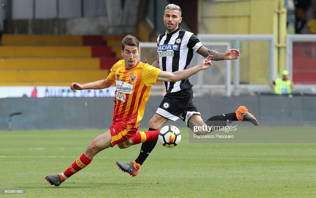 Filip Djuricic of Benevento Calcio during the serie A match between Benevento Calcio and Udinese Calcio at Stadio Ciro Vigorito on April 29, 2018 in Benevento, Italy.