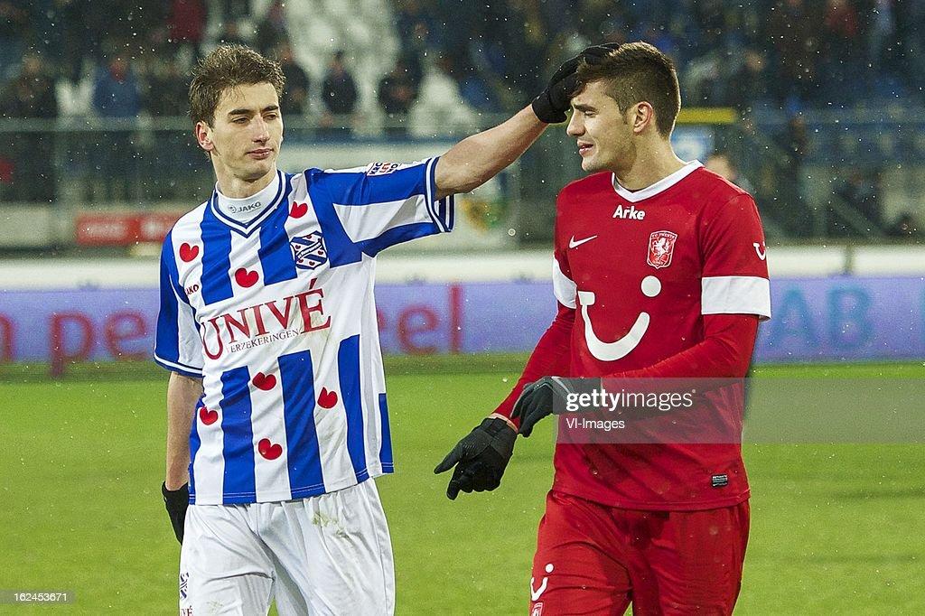 Filip Djuricic Of SC Heerenveen, Dusan Tadic Of FC Twente
