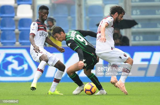 Filip Djuricic of US Sassuolo in action during the Serie A match between US Sassuolo and Bologna FC at Mapei Stadium Citta' del Tricolore on October...