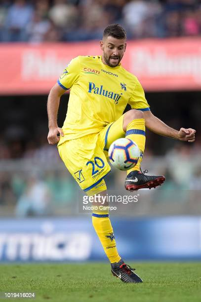 Filip Dordevic of AC ChievoVerona in action during the Serie A football match between AC ChievoVerona and Juventus FC Juventus FC won 32 over AC...