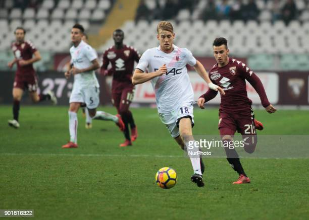 Filip Helander during Serie A match between Torino v Bologna in Turin on January 6 2018