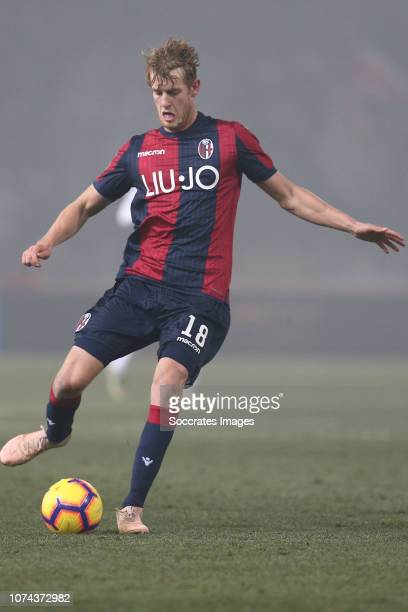 Filip Helander of Bologna FC during the Italian Serie A match between Bologna v AC Milan at the San Siro on December 18 2018 in Milan Italy