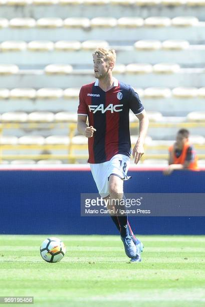Filip Helander of Bologna FC in action during the serie A match between Bologna FC and AC Chievo Verona at Stadio Renato Dall'Ara on May 13 2018 in...