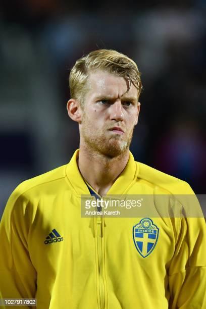 Filip Helander of Sweden during the international friendly match between Austria and Sweden at GeneraliArena on September 6 2018 in Vienna Austria