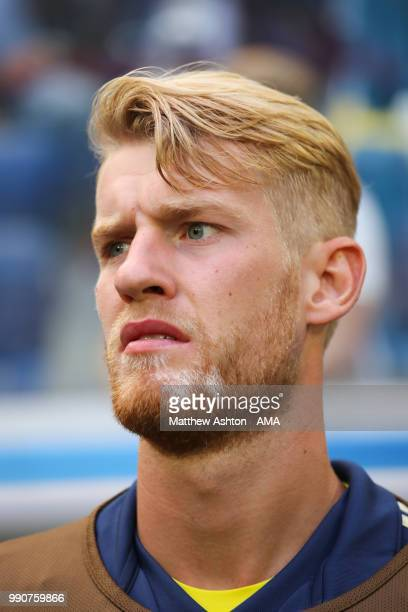 Filip Helander of Sweden looks on during the 2018 FIFA World Cup Russia Round of 16 match between Sweden and Switzerland at Saint Petersburg Stadium...