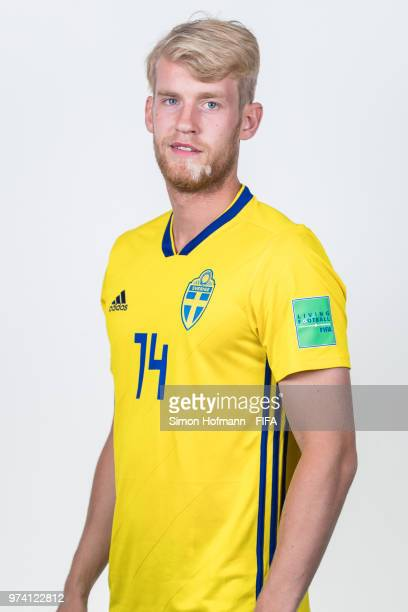Filip Helander of Sweden poses during the official FIFA World Cup 2018 portrait session on June 13 2018 in Gelendzhik Russia