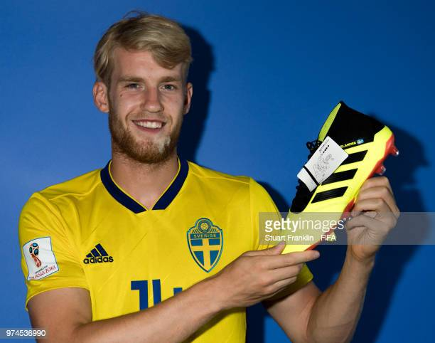 Filip Helander of Sweden poses for a photograph during the official FIFA World Cup 2018 portrait session at on June 13 2018 in Gelendzhik Russia