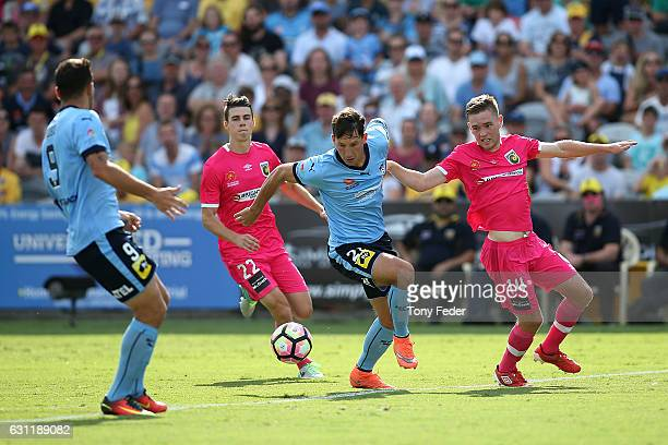 Filip Holosko of Sydney FC controls the ball during the round 14 A-League match between the Central Coast Mariners and Sydney FC at Central Coast...