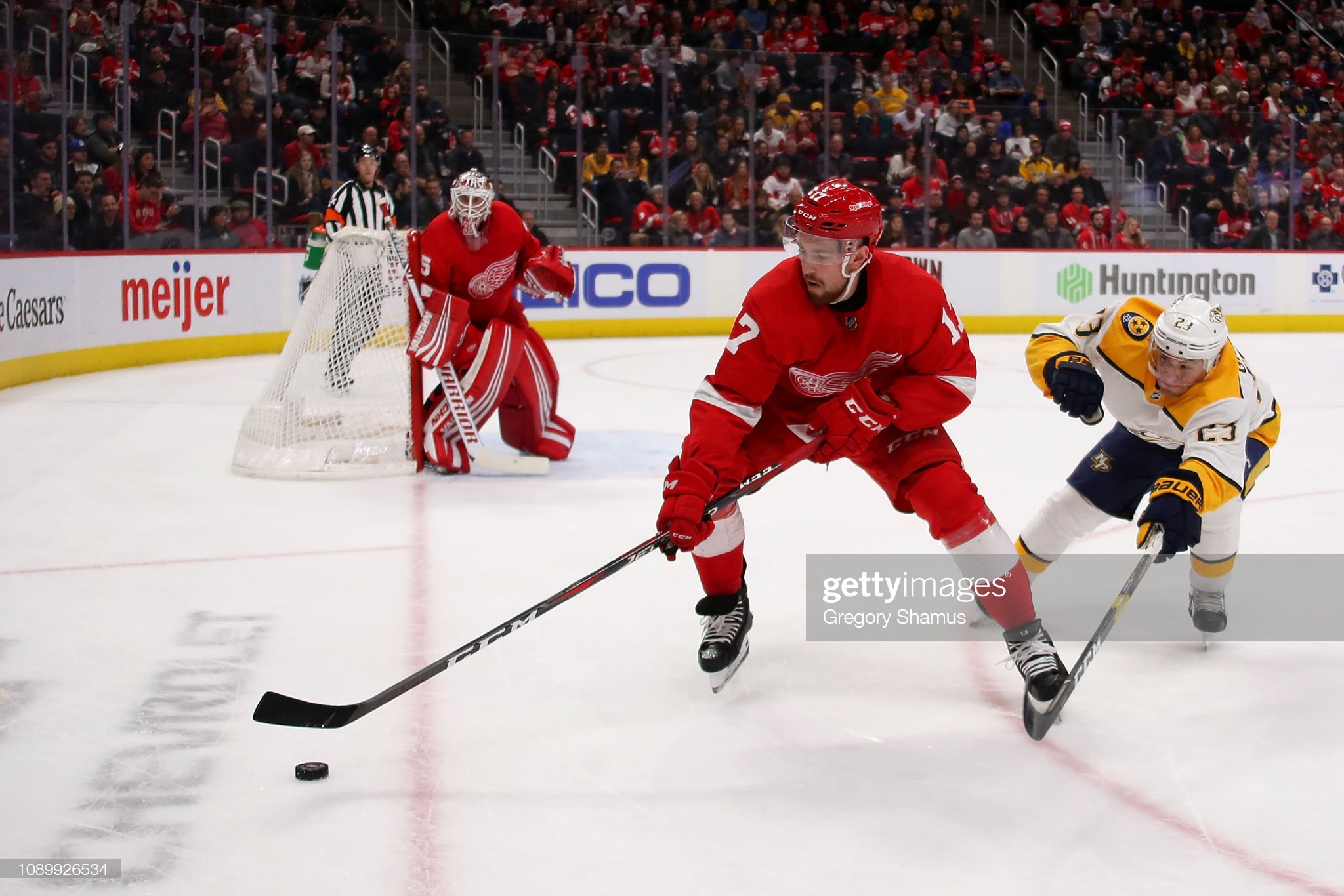 Nashville Predators v Detroit Red Wings : News Photo