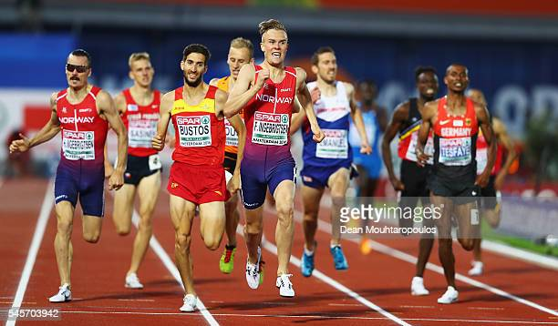 Filip Ingebrigtsen of Norway in action during the mens 1500m on day four of The 23rd European Athletics Championships at Olympic Stadium on July 9...