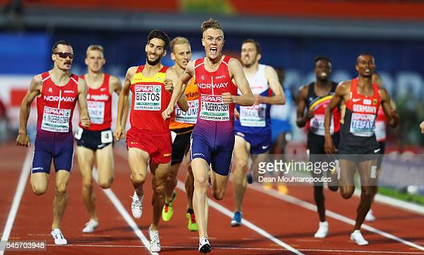 Filip Ingebrigtsen of Norway in action during the mens 1500m on day four of The 23rd European Athletics Championships at Olympic Stadium on July 9,...