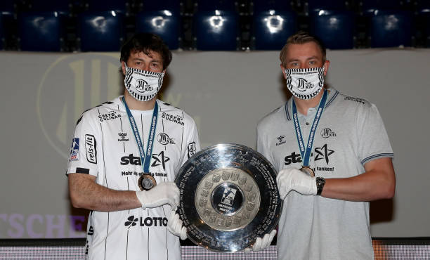 DEU: THW Kiel Awarded With Championship Trophy