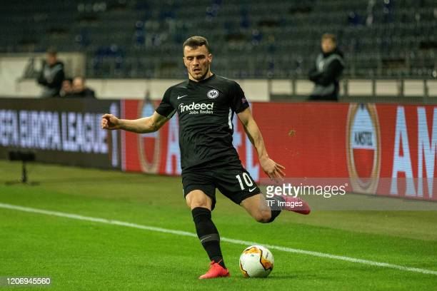 Filip Kostic of Eintracht Frankfurt during the UEFA Europa League round of 16 first leg match between Eintracht Frankfurt and FC Basel at Commerzbank...