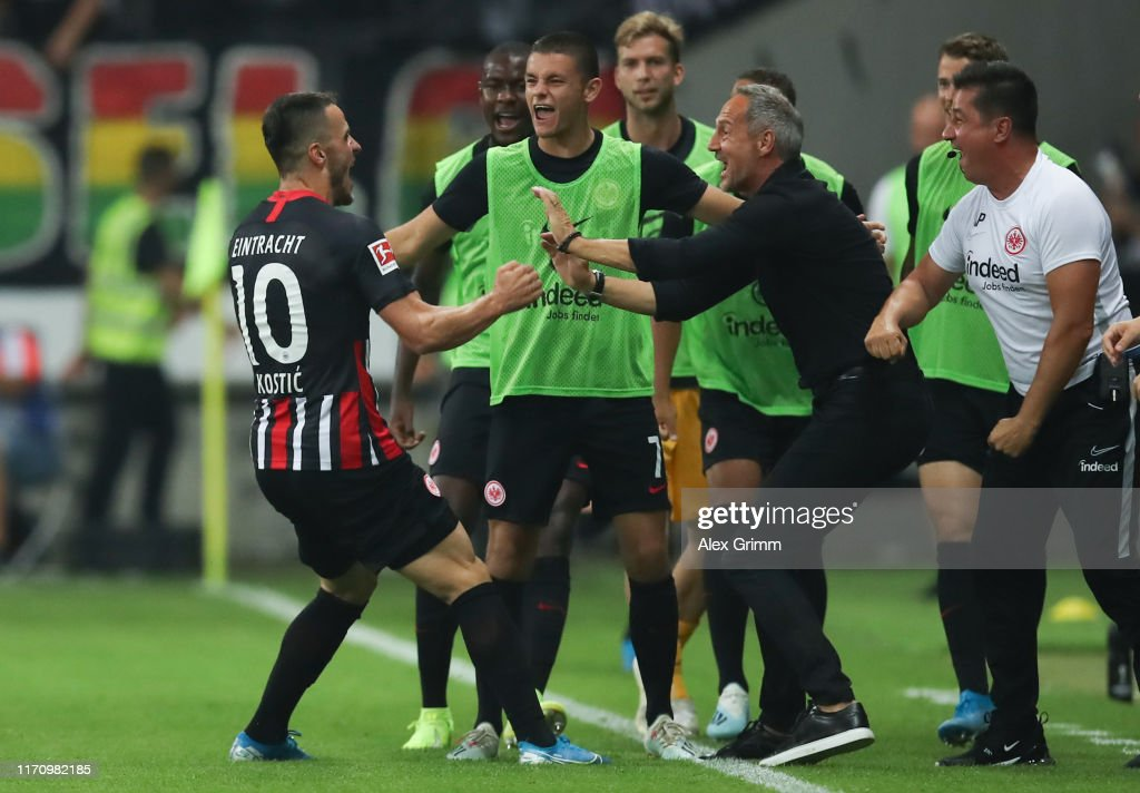 Eintracht Frankfurt v Racing Club de Strasbourg - UEFA Europa League Playoffs : News Photo