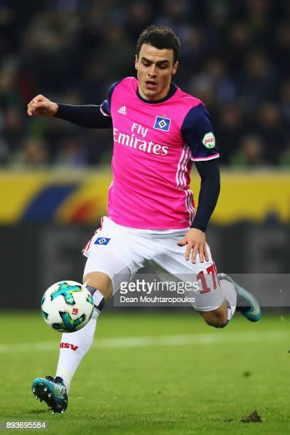 Filip Kostic of Hamburg in action during the Bundesliga match between Borussia Moenchengladbach and Hamburger SV at BorussiaPark on December 15 2017...