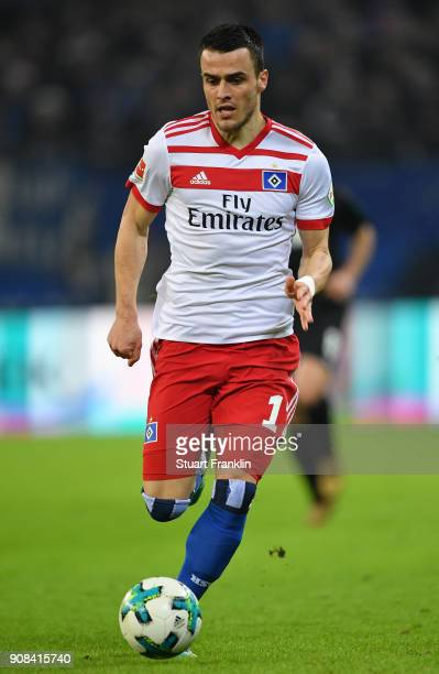 Filip Kostic of Hamburg in action during the Bundesliga match between Hamburger SV and 1 FC Koeln at Volksparkstadion on January 20 2018 in Hamburg...