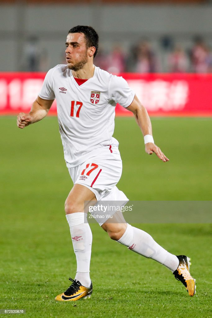 Filip Kostic of Serbia during International Friendly Football Match between China and Serbia at Tianhe Stadium on November 10, 2017 in Guangzhou, China.