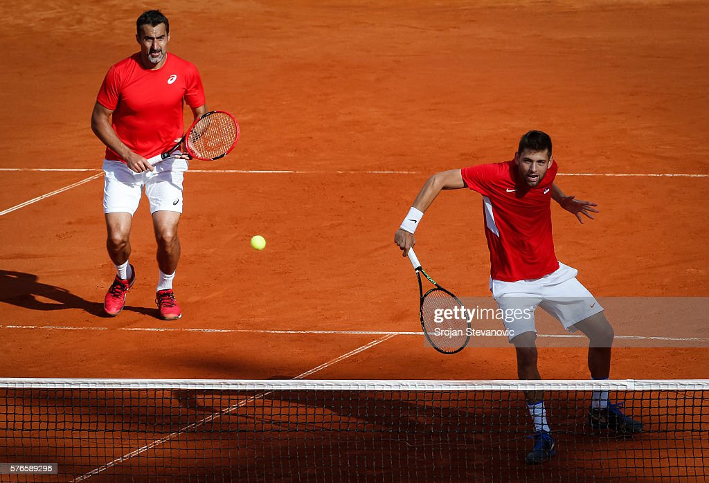 Serbia v Great Britain - Davis Cup World Group Quater-Final: Day Two