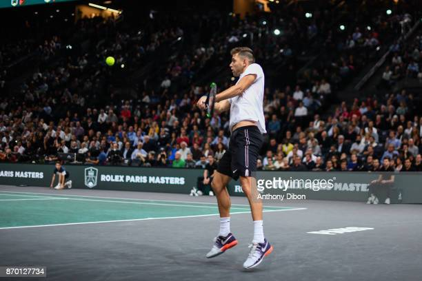Filip Krajinovic during the Day 6 of the Rolex Paris Masters at AccorHotels Arena on November 4 2017 in Paris France