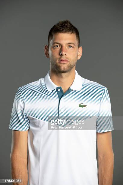 Filip Krajinovic of Serbia poses for his official portrait at the Australian Open at Melbourne Park on January 10 2019 in Melbourne Australia