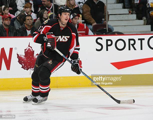 Filip Kuba of the Ottawa Senators skates against the Pittsburgh Penguins at Scotiabank Place on December 6, 2008 in Ottawa, Ontario, Canada.