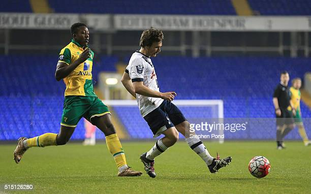 Filip Lesniak of Tottenham Hotspur during the Barclays U21 Premier League match between Tottenham Hotspur and Norwich City at White Hart Lane on...