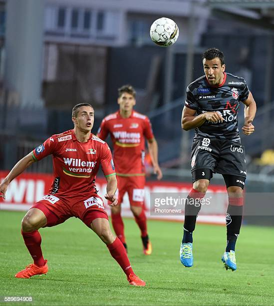 Filip Markovic midfielder of Royal Excel Mouscron pictured during Jupiler Pro League match between KV Ostende and Mouscron on August 14, 2016 in...