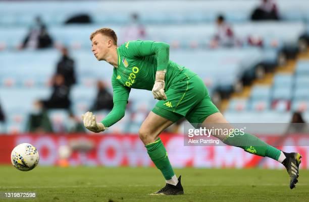Filip Marschall of Aston Villa during the FA Youth Cup Final between Aston Villa U18 and Liverpool U18 at Villa Park on May 24, 2021 in Birmingham,...