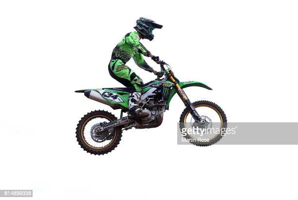 Filip Neugebauer of Czech Republic in action during the International German Motocross Championships on July 15 2017 in Tensfeld Germany