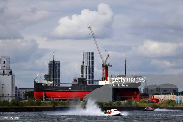 Filip Roms of Finland and MadCroc BABA Racing in action during free practice ahead of round two of the 2018 Championship the F1H2O UIM Powerboat...