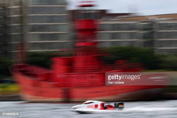 Filip Roms of Finland of MadCroc BABA Racing in action during free practice ahead of round two of the 2018 Championship the F1H2O UIM Powerboat World...