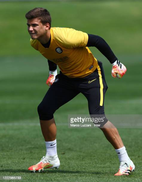 Filip Stankovic of FC Internazionale in action during the FC Internazionale training session at the club's training ground Suning Training Center in...