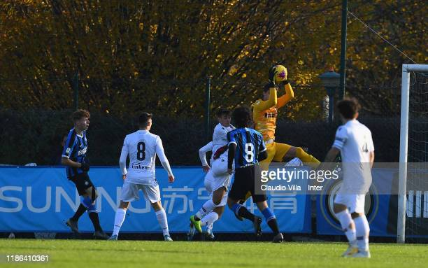 Filip Stankovic of FC Internazionale in action during the Primavera 1 match between FC Internazionale U19 and Bologna FC U19 at Suning Youth...