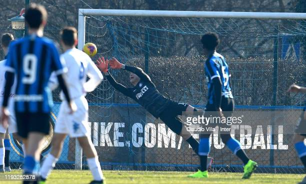 Filip Stankovic of FC Internazionale in action during the Primavera 1 match between FC Internazionale U19 and Empoli FC U19 at Suning Youth...