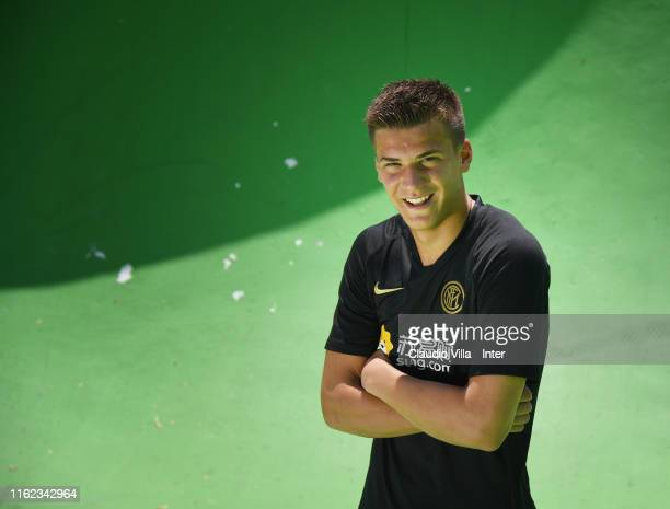 Filip Stankovic of FC Internazionale poses for a photo session on July 12 2019 in Lugano Switzerland