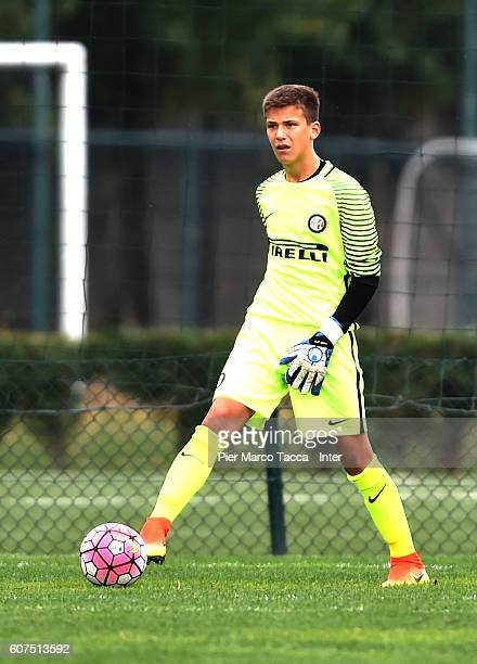 Filip Stankovic of FC Internazionale U15 in action during the match FC Internazionale U15 v AC Milan U15 on September 18 2016 in Milan Italy