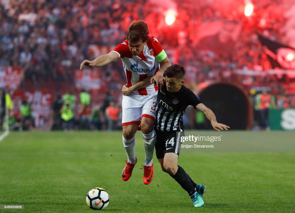 FK Crvena Zvezda v FK Partizan - Serbian Super League : Foto di attualità