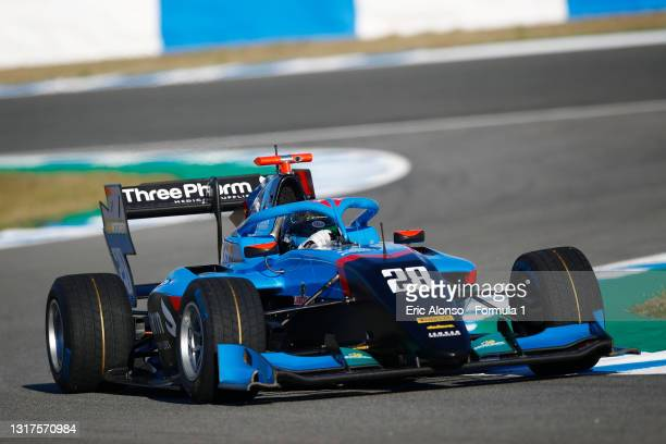 Filip Ugran of Romania and Jenzer Motorsport drives at Circuito de Jerez on May 12, 2021 in Jerez de la Frontera, Spain.