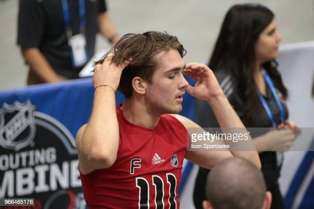 Filip Zadina completes the Wingate cycle test during the NHL Scouting Combine on June 2 2018 at HarborCenter in Buffalo New York