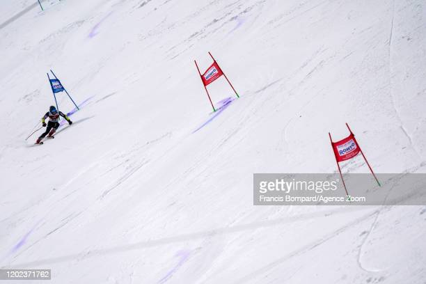Filip Zubcic of Croatia competes during the Audi FIS Alpine Ski World Cup Men's Giant Slalom on February 22, 2020 in Yuzawa Naeba Japan.