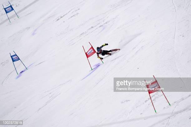 Filip Zubcic of Croatia competes during the Audi FIS Alpine Ski World Cup Men's Giant Slalom on February 22, 2020 in Yuzawa Naeba Japan.
