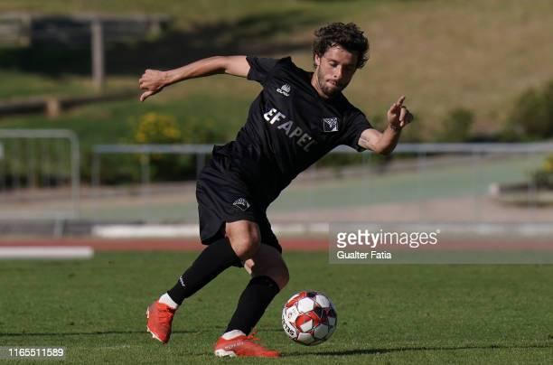 Filipe Chaby of Academica Coimbra in action during the Liga Pro match between CD Mafra and Academica Coimbra at Estadio do Parque Desportivo...