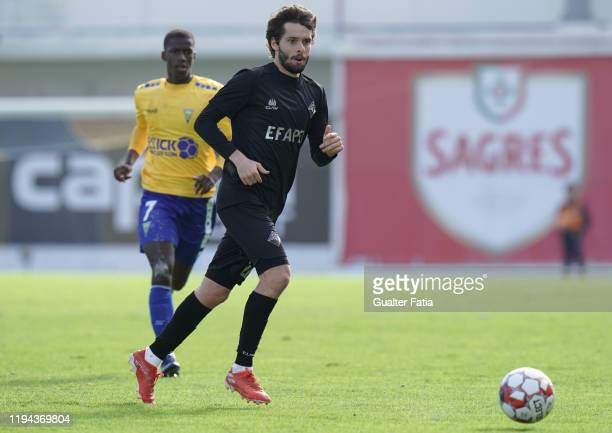 Filipe Chaby of Academica Coimbra in action during the Liga Pro match between GD Estoril Praia and Academica Coimbra at Estadio Antonio Coimbra da...