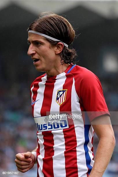 Filipe Luis during the Spanish league football match Real Club Celta de Vigo vs Club Atlético de Madrid at estadio Municipal de Balaidos on September...
