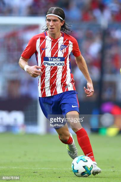Filipe Luis of Atletico de Madrid during the first Audi Cup football match between Atletico Madrid and SSC Napoli in the stadium in Munich southern...