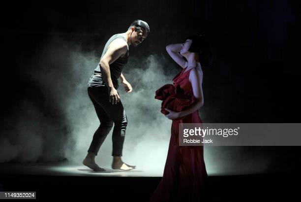 Filipe Manu as Hippolytus and Hongni Wu as Phaedra in The Royal Opera's production of Hans Werner Henze's Phaedra directed by Noa Naamat and...
