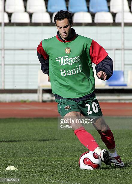 Filipe Oliveira in action during Maritimo training session in Funchal Portugal on January 25 2007