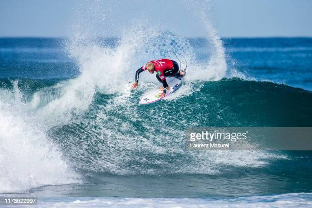 Filipe Toledo of Brazil advances directly to Round 3 of the 2019 Quiksilver Pro France after winning Heat 5 of Round 1 at Le Culs Nus on October 3...